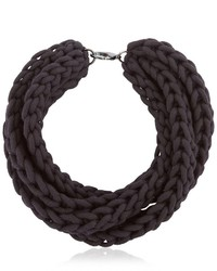 Alienina Altrove Brass Cotton Braided Necklace