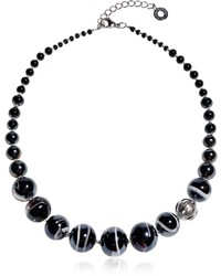 Antica Murrina Veneziana Antica Murrina Optical 2 Black Murano Glass Choker