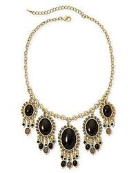 jcpenney Aris By Treska Gold Tone Black Bead Statet Necklace