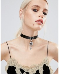 Asos Statet Cross Choker Necklace