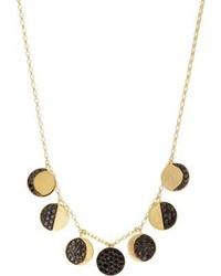 Black Diamond Pamela Love Fine Jewelry Gold Moon Phase Necklace