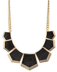 Charlotte Russe Snake Embossed Faux Leather Statet Necklace