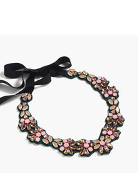 J.Crew Colorful Fabric Backed Bib Necklace