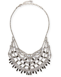 Dannijo Steinem Jet Crystal Bib Necklace