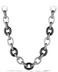 David Yurman Xl Sterling Silver 18k Gold Link Necklace 175