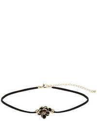 Dorothy Perkins Black Flower Choker