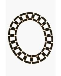 Rachel Zoe Eloise Leather Link Collar Necklace
