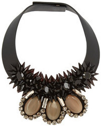 Marni Embellished Leather Necklace