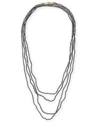 Splendid Faceted Black Diamond Necklace 100l