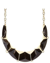 Charlotte Russe Faceted Stone Metal Statet Necklace