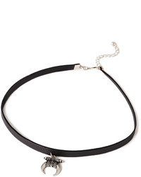 Forever 21 Faux Leather Charm Choker