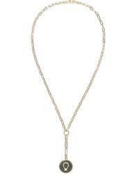 Foundrae Horseshoe 18 Karat Gold Enamel And Diamond Necklace