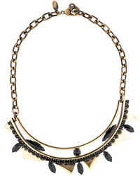 Iosselliani Black Crystal Collar Necklace
