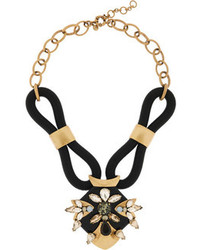 J.Crew Corded Gold Tone Crystal Necklace