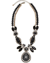 jcpenney Mixit Mixit Black Stone Crystal Statet Y Necklace