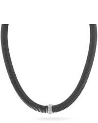 Alor Kai Coil Cable Necklace W Pave Diamonds Black