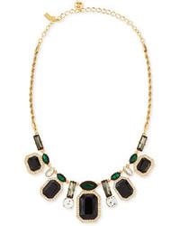 Kate Spade New York Art Deco Crystal Necklace Blackgreen