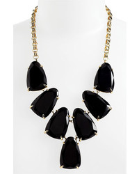 Kendra scott harlow frontal necklace black onyx gold medium 208897