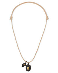 Dezso by Sara Beltrán Leather Multi Stone Necklace