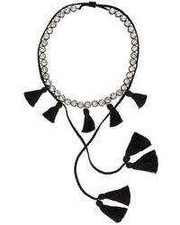 Shourouk Line Pompom Necklace