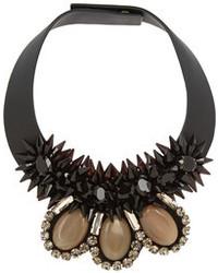 Marni Embellished Leather Necklace