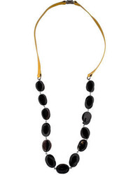 Marni Patent Leather Horn Necklace