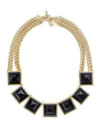 Michael Kors Pyramid Collar Necklace Goldenblack Michl Kors