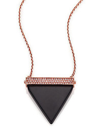 Michael Kors Michl Kors Brilliance Statet Triangle Long Pendant Necklacerose Goldtone