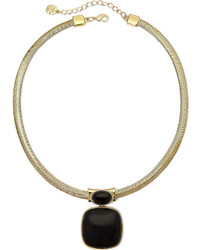 jcpenney Monet Jewelry Monet Gold Tone Black Statet Necklace