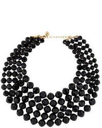 Kate Spade New York Multistrand Black Bead Necklace
