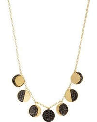 Black Diamond Pamela Love Fine Jewelry Gold Moon Phase Necklace