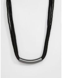 Pilgrim Tube Detail Necklace