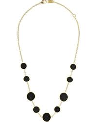 Ippolita Polished Rock Candy 18 Karat Gold Onyx Necklace