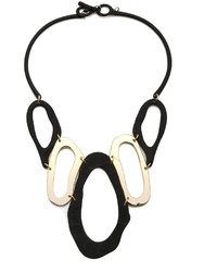 Portage Black And Gold Statet Necklace