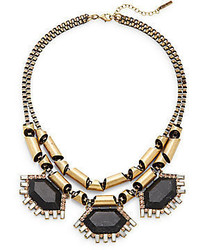 Saks Fifth Avenue Black Howlite Chain Statet Necklace
