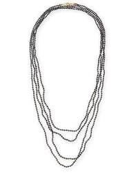 Splendid Faceted Black Diamond Necklace 100l