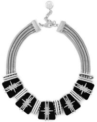 Vince Camuto Crystal Resin Frontal Necklace