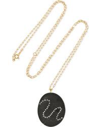 Cvc Stones Wandering 18 Karat Gold Stone And Diamond Necklace