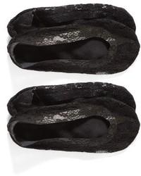 Nordstrom 2 Pack Lace Liner Socks