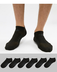 New Balance 6 Pack No Show Socks In Black N4010 032 6eu Blk