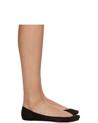Wolford Black Cotton 40 Footsies Socks