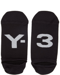 Y-3 Black Invisible Logo Socks