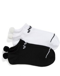 adidas Original 2 Pack No Show Pom Socks
