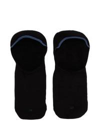 Ermenegildo Zegna Three Pack Black Ez Sockless Socks