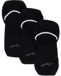 Ermenegildo Zegna Three Pack Navy Botanic Sockless Socks
