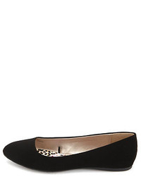 Charlotte Russe Nubuck Pointy Toe Ballet Flat