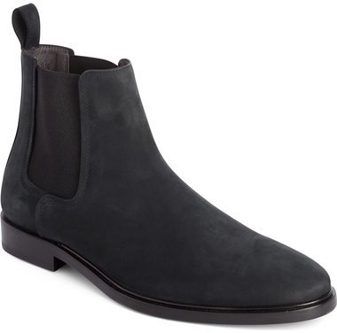 Lanvin Plain Toe Nubuck Chelsea Boot