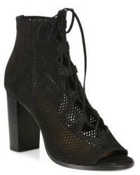 Frye Gabby Perforated Ghillie Lace Up Nubuck Sandals