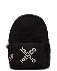 Kenzo Black Sport Logo Backpack