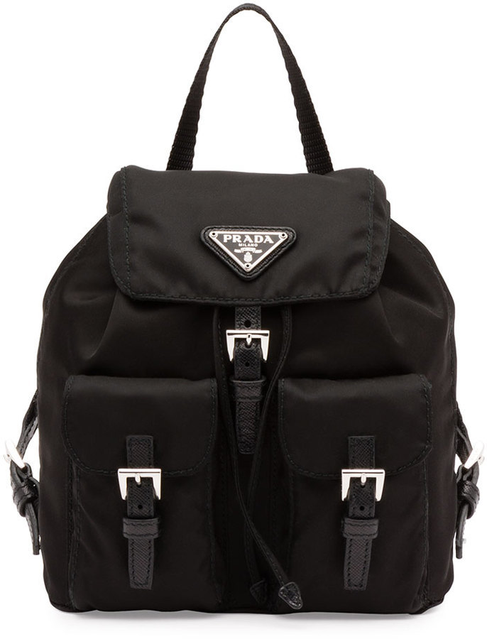 fd91f58d8771a ... Prada Vela Mini Crossbody Backpack Bag Black ...